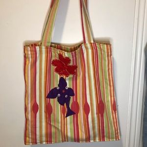 Vintage Tri Colour PatchWork Tote Bag
